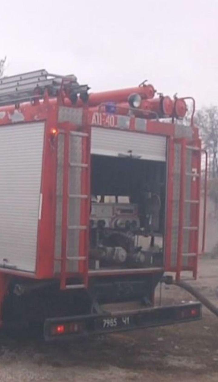 В Одесі біля нафтопереробного заводу загорілося сміттєзвалище