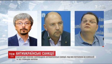 68 компаний и 322 гражданина Украины: Москва ввела антиукраинские санкции