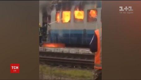 Пожежа на залізниці: потяг з пасажирами загорівся на Рівненщині