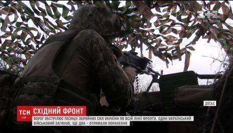 Боевики обстреляли украинские позиции вдоль всей линии фронта