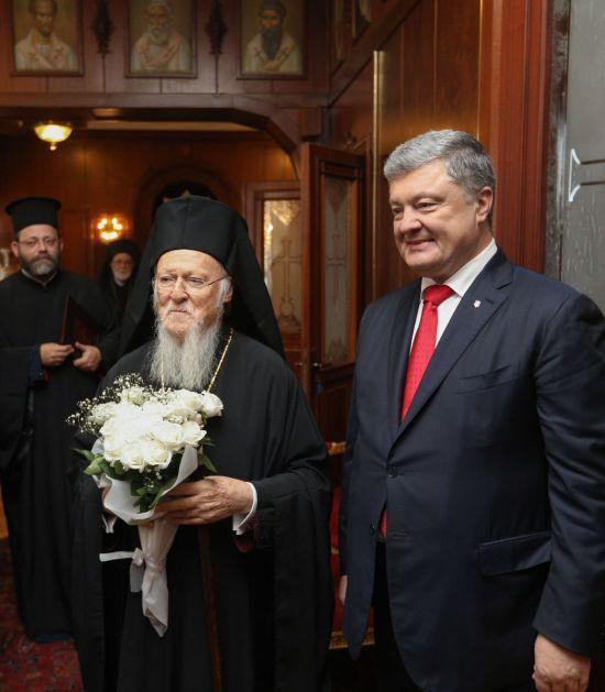 Порошенко зустрівся зі Вселенським патріархом у Стамбулі