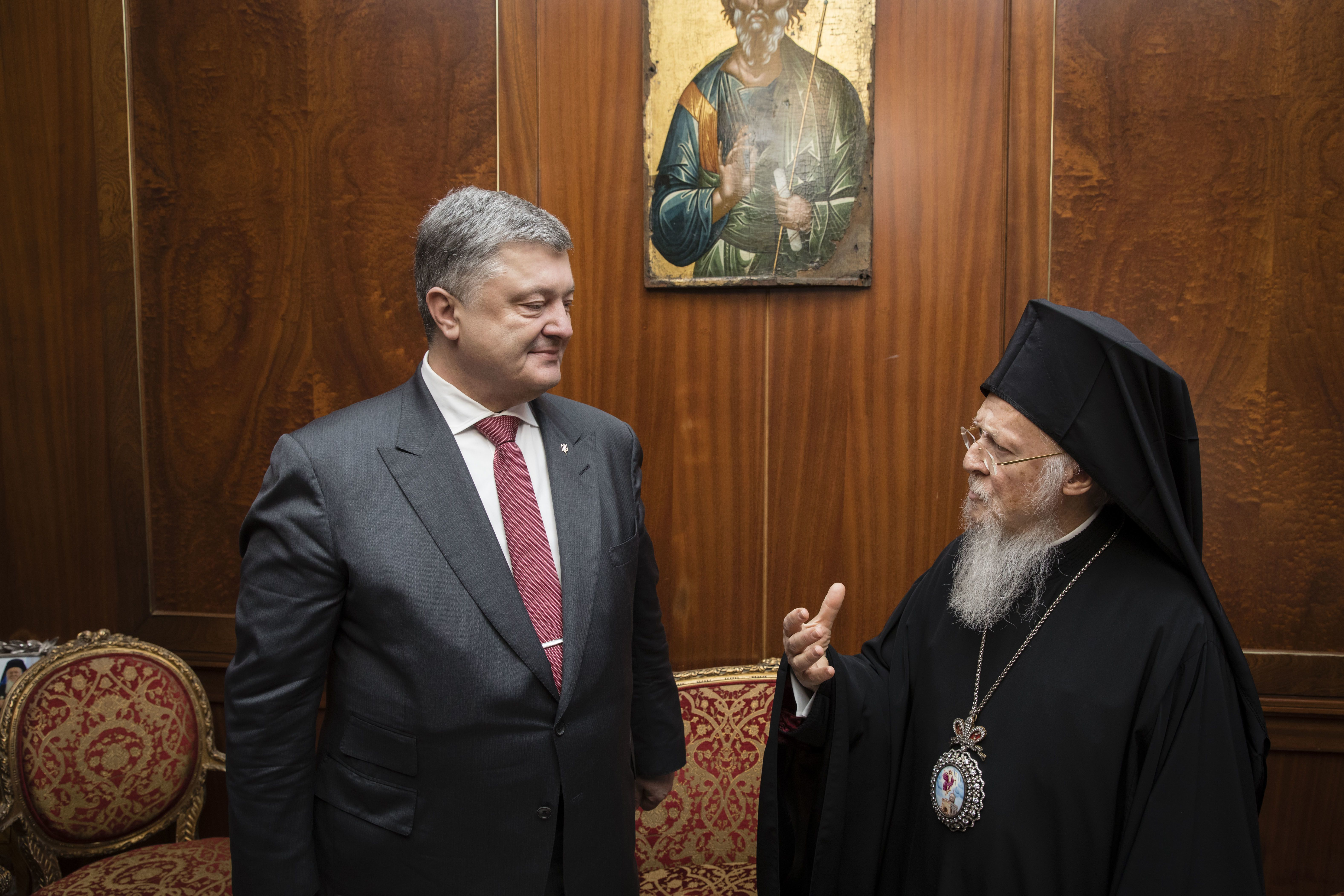 Петро Порошенко і Вселенський Патріарх Варфоломій