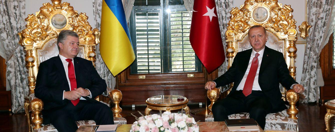 В Стамбуле завершилась встреча Порошенко и Эрдогана. Говорили почти полтора часа
