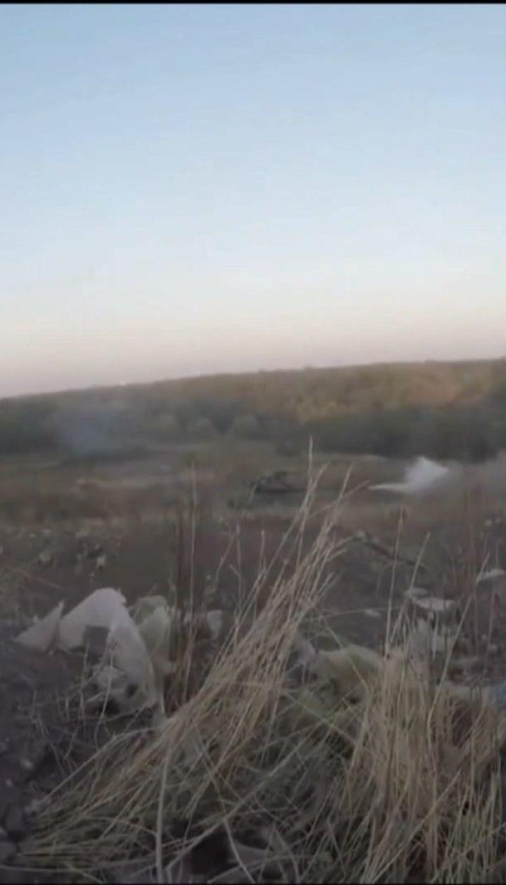 Пророссийские боевики обстреляли позиции украинских защитников из тяжелого вооружения