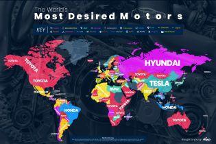 Появился рейтинг марок автомобилей по запросам Google в Украине и мире