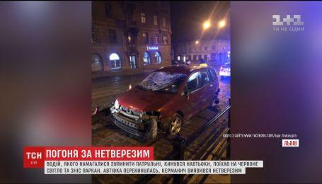 Во Львове пьяный водитель устроил погоню с патрульными