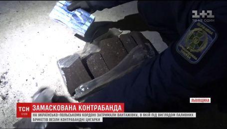 На українсько-польському кордоні затримали вантажівку з партією контрабандних цигарок