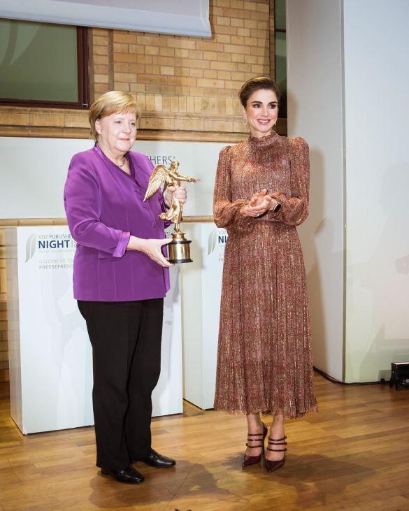 Королева Рания и Ангела Меркель