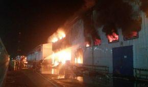 На Одещині масштабно палає маслопереробний завод: до місця події їдуть два пожежні поїзди