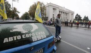 """Владельцы """"евроблях"""" блокируют главные дороги Украины. Текстовый онлайн"""