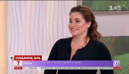"""Переможниця проекту """"Модель XL"""" Наталія Петрик - у студії """"Сніданку"""""""