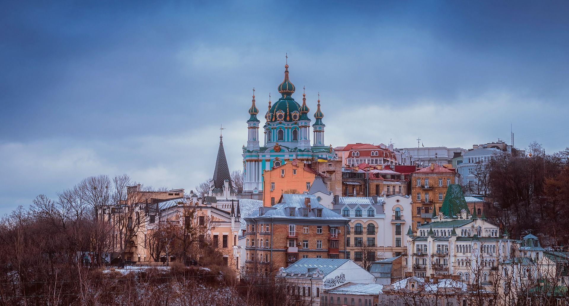 Київ, Андріївська церква, поділ