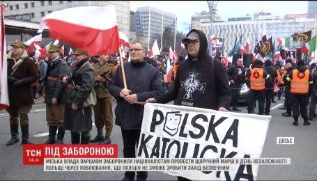 Міська влада Варшави заборонила праворадикалам проводити свій щорічний марш