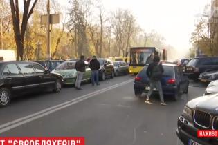 """Владельцы автомобилей на """"евробляхах"""" продолжили протест под Верховной Радой"""