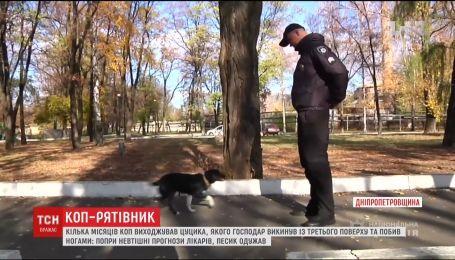 На Дніпропетровщині коп врятував цуценя