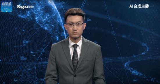 У Китаї показали першого віртуального телеведучого зі штучним інтелектом