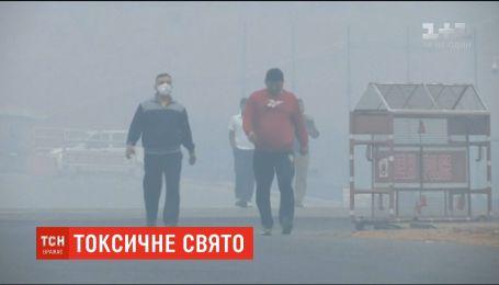 """Токсический смог окутал Нью-Дели после индуистского фестиваля """"Дивали"""""""