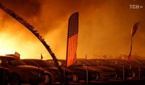 Каліфорнія у вогні: потужна пожежа нищить ліси, будинки та автомобілі