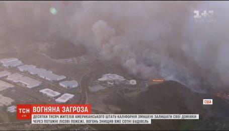 Десятки тисяч жителів Каліфорнії змушені залишати домівки через масштабні лісові пожежі