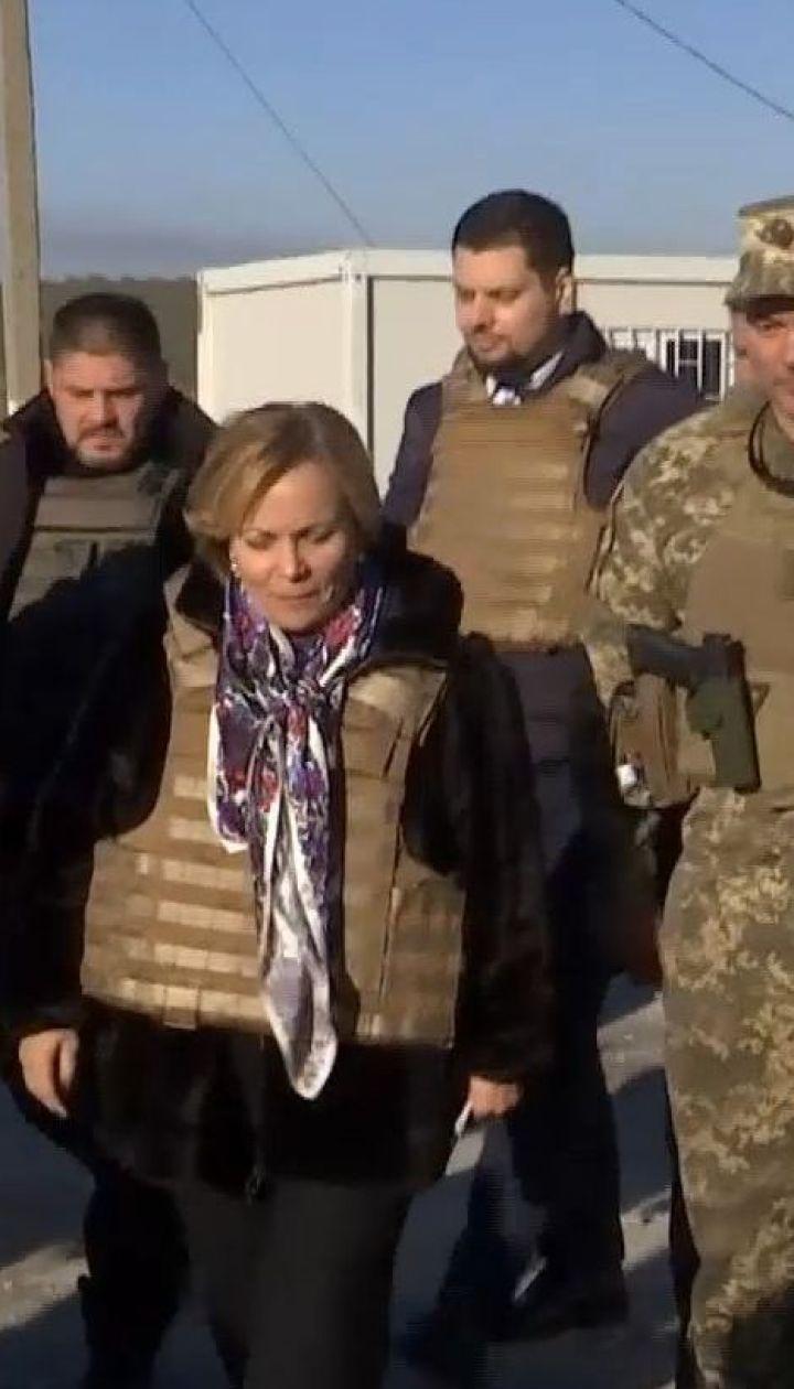 Президент НАТО побывала на Донбассе