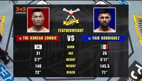 UFC. Чан Сон Юн - Яир Родригес. Видео боя