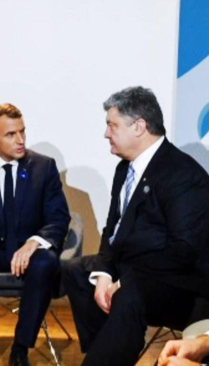 Порошенко з очільниками Франції й Німеччини обговорили миротворчу місію ООН на Донбасі