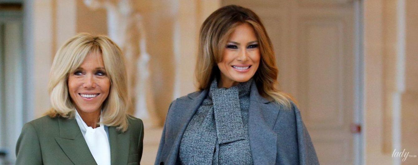 Як завжди, стильна: три образи Меланії Трамп у Франції