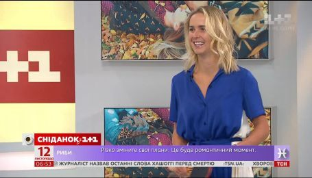 """Элина Свитолина сыграла в настольный теннис в студии """"Сніданок. Вихідний"""""""