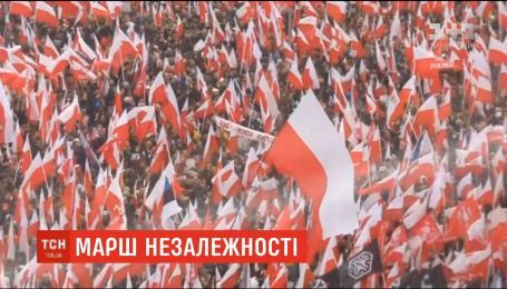 У Варшаві відбувся марш до 100-річчя незалежності Польщі