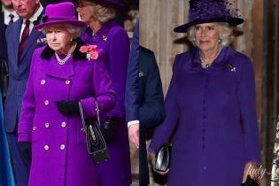 Обе в лиловых пальто: битва образов королевы Елизаветы II и герцогини Корнуольской Камиллы