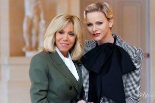 Стильная княгиня Шарлин встретилась с Брижит Макрон в Версальском дворце