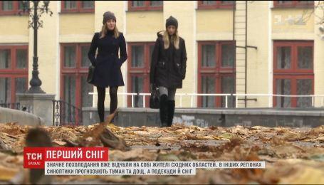 На Украину надвигается атмосферный фронт, который принесет снег с дождем и сильные ветры