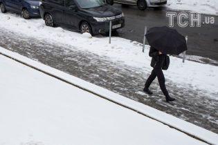 Первый снег парализовал Киев, количество ДТП достигло полутысячи. Текстовая хроника