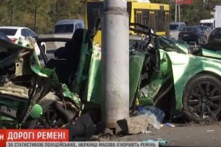 Полиция бьет тревогу: почти половина погибших в ДТП украинцев не пользовались ремнями безопасности