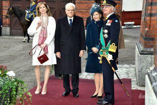 Элегантная королева Сильвия встретила первую леди Италии на приеме во дворце