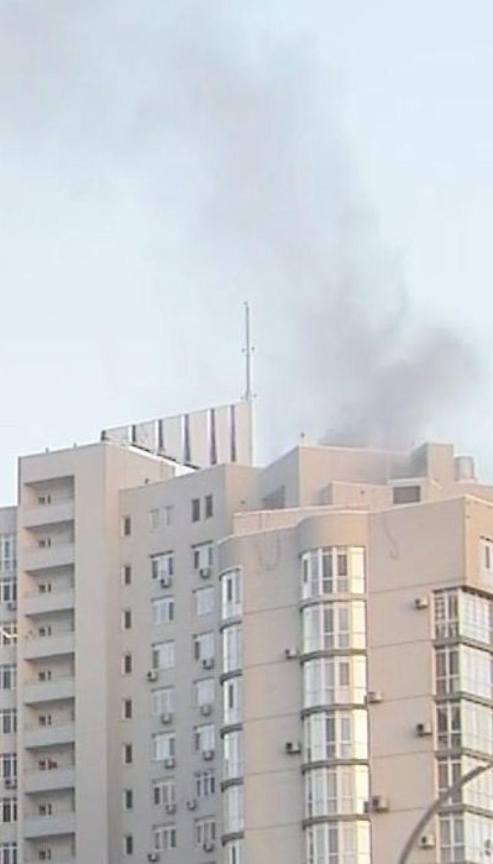 В столичной многоэтажке произошел масштабный пожар