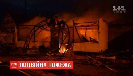 Двойной пожар в Днепропетровской области: загорелись магазины с продовольственными и строительными материалами