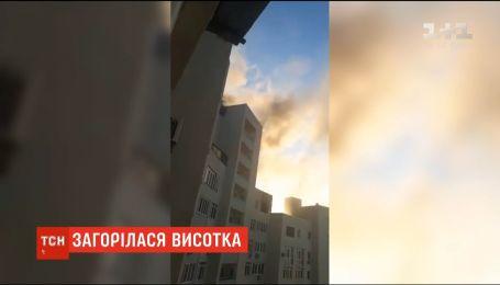 У Києві загорілася багатоповерхівка через закорочення електропроводки