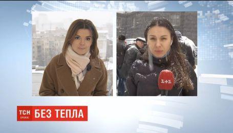 Мерзнуть больше не могут: активисты из Смелы приехали в столицу пикетировать Кабмин