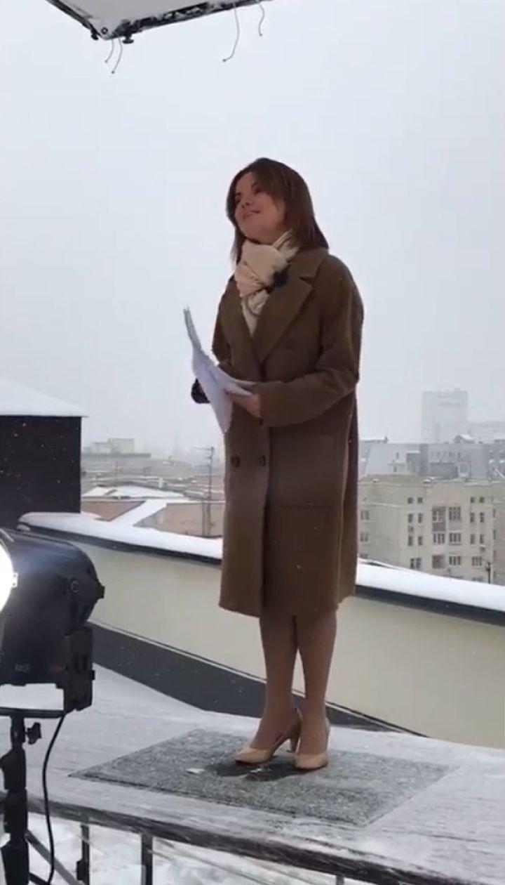 Маричка Падалко провела выпуск новостей на балконе