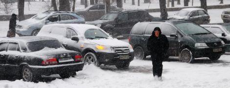 Куда лучше не ехать в день первого снегопада в Киеве. Карта