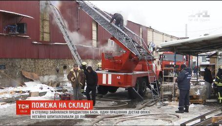 Эксперты устанавливают причины масштабного пожара на Подольской продуктовой базе