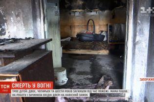 Подробности трагедии на Запорожье: трое детей были заперты в охваченном огнем доме
