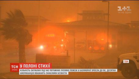 Причиной пожаров в Калифорнии спасатели называют длительную засуху и сильные ветры