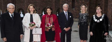 Обидві красиві: королева Сільвія і перша леді Італії вийшли на червону доріжку
