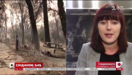 Какова ситуация с пожаром сейчас в Калифорнии - прямое включение из штата