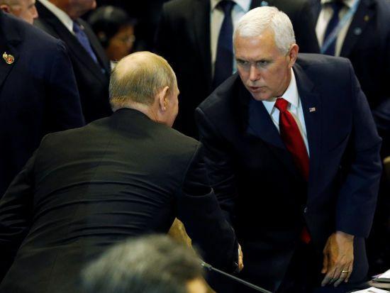Путін зустрівся з віце-президентом США у Сингапурі