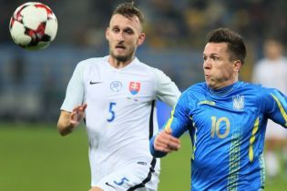 Букмекеры считают сборную Украины аутсайдером в матче Лиги наций со Словакией