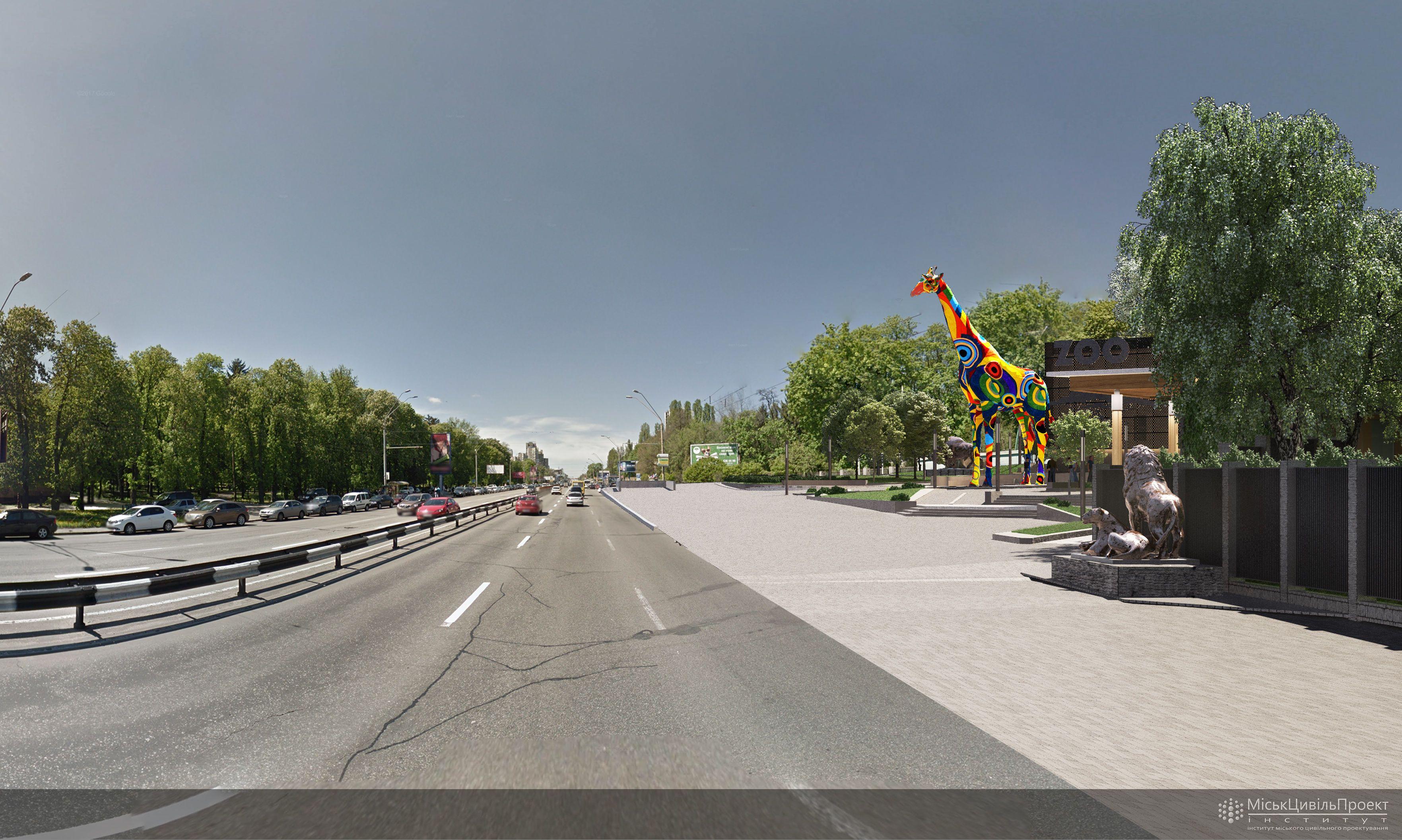 Проект скульптура жирафи біля зоопарку в Києві_1