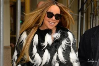 Шуба їй пасує: Мерайя Кері в ефектному образі прогулялася Нью-Йорком